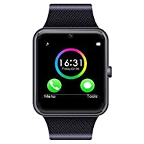 Aipker Smart Watch Phone for Samsung LG Sony Android Phones Black