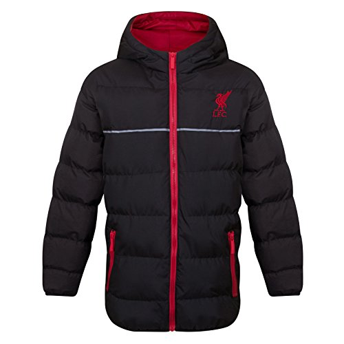 Liverpool FC Official Gift Boys Quilted Hooded Winter Jacket Black 12-13 Years (Jacket Fc Liverpool)