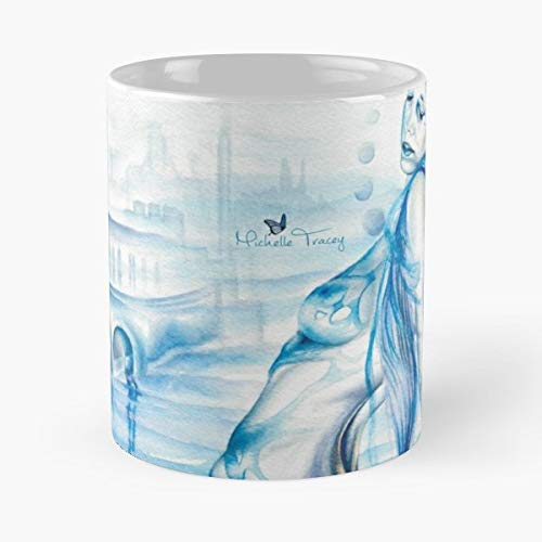 Fantasy Art Sword Excalibur Castle Funny Christmas Day Mug Gifts Ideas For Mom - Great Ceramic Coffee Tea Cup ()