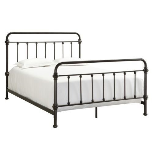 Amazon.com: Antique Finish Dark Bronze Queen-Size Metal Bed. This ...