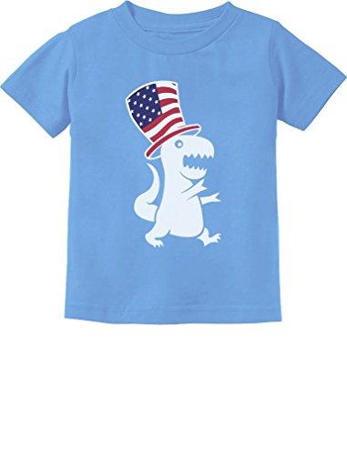 American T-Rex Dinosaur USA Flag 4th of July Toddler/Infant Kids T-Shirt