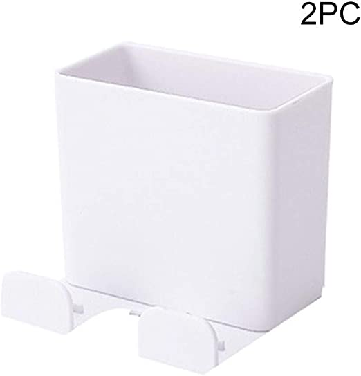 Luccase Wall Mount Remote Control Holder Free Punch No Drilling Self Adhesive Media Organizer Hook Box Office Supplies Accessories Home Storage Candy Container