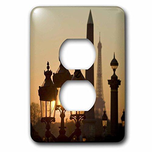 Danita Delimont - Paris - Place de la Concorde, Eiffel Tower, Paris, France - EU09 DBN0760 - David Barnes - Light Switch Covers - 2 plug outlet cover (lsp_81473_6)