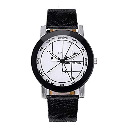 Fashion Clearance Watch! Noopvan Women's Quartz Watches Geometry Pattern Stainless Steel Dial Luxury Wrist Watch Fashion Leather Band Watch Unique Dress Wristwatch Casual Elegant Watches ()