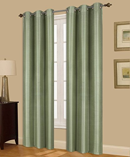 (GorgeousHome (N32) 1 Solid Window Curtain Silver Grommet Top Foam Lined Backing Insulated Thermal Blackout Drape Panel (108