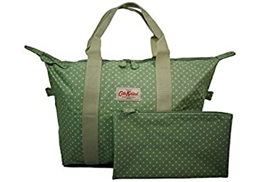6b3272a9b079 Image Unavailable. Image not available for. Colour  Cath Kidston NEW Foldaway  Overnight Shopper Bag Mini Dot Sage Green