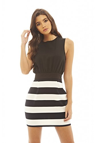 2 in 1 black and white dress - 8