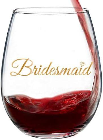 Bridesmaid Metallic Stemless Bachelorette Proposal