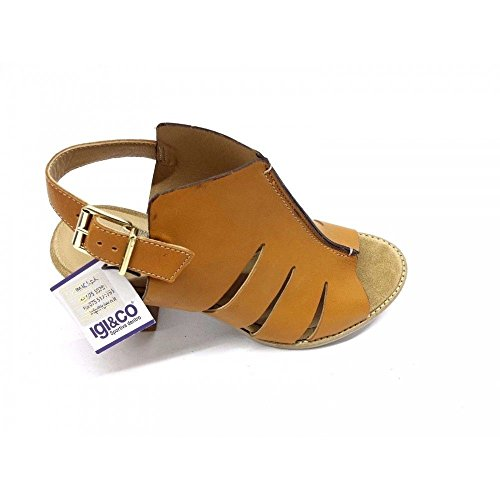 IGI Sandals Genuine 78473 Leather Women's Heel CO Shoes Caramel 1IrHqIw