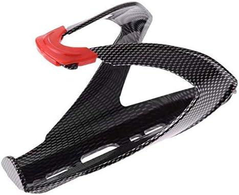 ボトルケージ 自転車用 実用的なロードバイク自転車Vシェイプウォーターボトルホルダーカーボンファイバーボトルラックケージボトルホルダー自転車アクセサリー JPLJJ (Color : ブラック)