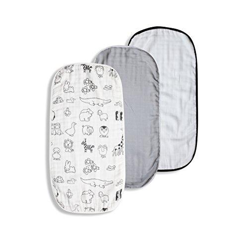 "Bamboo Muslin Baby Burp Cloths | Large 21""x11""| Luxurious,Super Soft and Absorbent| 8-Layer Design| Boy-Girl by Kaaf Burp Cloths"