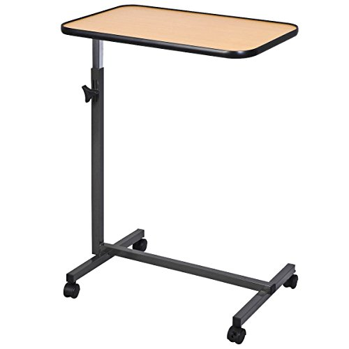 Generic JRT-AUS1-150909-1053 [8-0844] lling Table Overbed Rolling Table Over Tilting Top Bed Laptop Food aptop F Tray Hospital Desk With Tilting Top Overbed by Generic (Image #5)