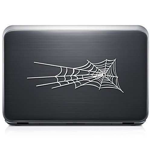 Spider Web Cobweb PERMANENT Vinyl Decal Sticker For Laptop Tablet Helmet Windows Wall Decor Car Truck Motorcycle - Size (12 Inch / 30 Cm Wide) - Color (Gloss White) by GottaLoveStickerz
