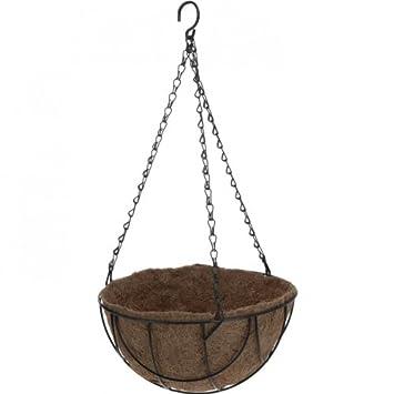 blumenampel hngekorb hngeampel pflanzkorb mit kokosmoos einlage - Blumenampel Selber Machen Hangekorb