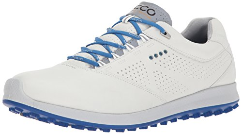 (ECCO Men's Biom Hybrid 2.0 Golf Shoe, White/Bermuda Blue, 44 EU / 10-10.5 D(M) US)