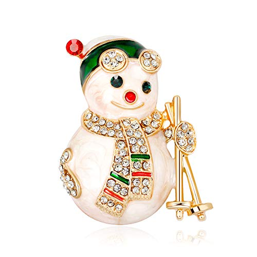 (Ramyes Brooches for Women Snowman Rhinestone Corsage Womens Brooch Pin Breastpin Scarves Shawl Clip Jewelry Gifts for Mom )