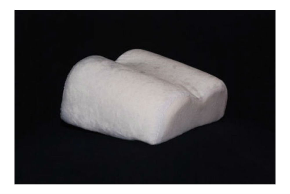 Compact Travel Size Contour Pillow or Knee / Leg Spacer with Memory Foam pillow