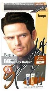 Tinte permanente Bigen Speedy Colour para hombres (marrón oscuro 103)