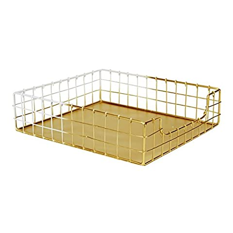 C.R. Gibson Wire Mesh Letter Tray, Two Toned Metallic, Measures 10.5