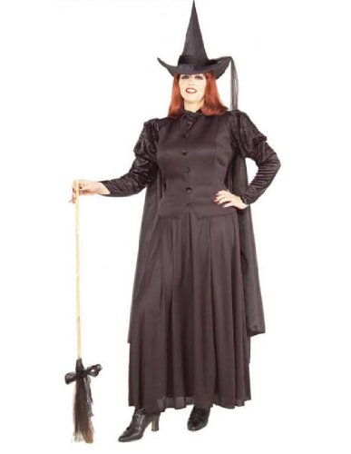 Forum Novelties Women's Wild N' Witchy Classic Witch Costume, Black, Plus (Black Dress Halloween Costumes)