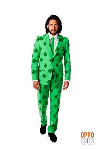 OppoSuits Patrick Irish Shamrock Party Costume Suit with Adjustable Hem Tae (40) (Halloween Suits Men)