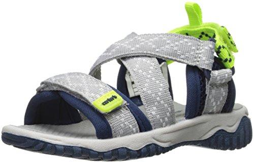 Carter's Boys' Splash Girl's Athletic Sport Sandal, Navy/Grey/Yellow, 10 M US Toddler