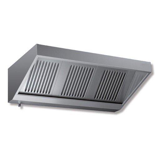 Cappa 120x70x45 acciaio inox Snack neutra cucina ristorante RS7176