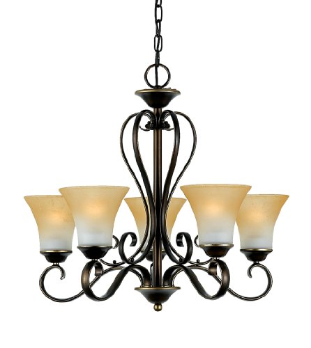 Quoizel DH5005PN Duchess 5-Light Chandelier, Palladian (Forged Iron 5 Light Chandelier)