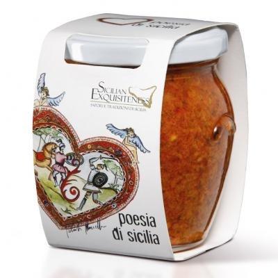 Pesto aus Sizilien mit Paprika, Aubergine und Pecorino - 180gr