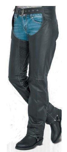 River Road Rambler Vintage Womens Black Leather Chaps - 8