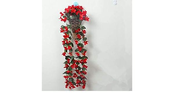 FREEWYJD Tipo De Helado Hierro Colgante Maceta Vid Cestas De Pared Jardín Decoración del Hogar Canasta De Pérgola Canasta De Almacenamiento De Flores Tejidas: Amazon.es: Hogar