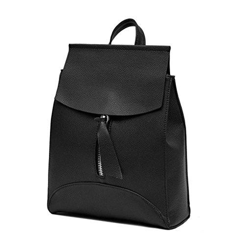 escuela Bolso Mochila Negro 32cm LMMVP hombro para Bolsa Bolsa Negro viaje Mujer 25cm de la 10cm de Uqx5vwgq