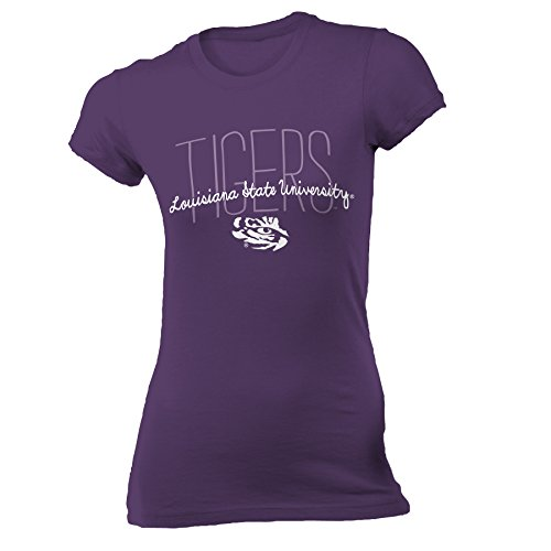 Louisiana State University Jersey - NCAA Louisiana State University Women's Vintage Sheer Tee, Small, Purple