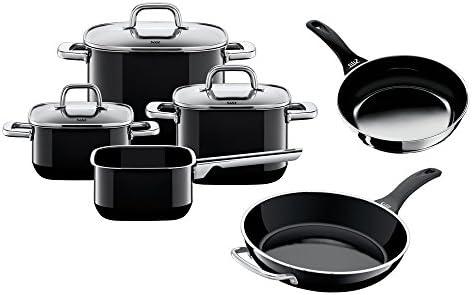Silit - Batería de cocina de 4 piezas con tapa modelo Quadro Black y 2 sartenes Professional: Amazon.es: Hogar