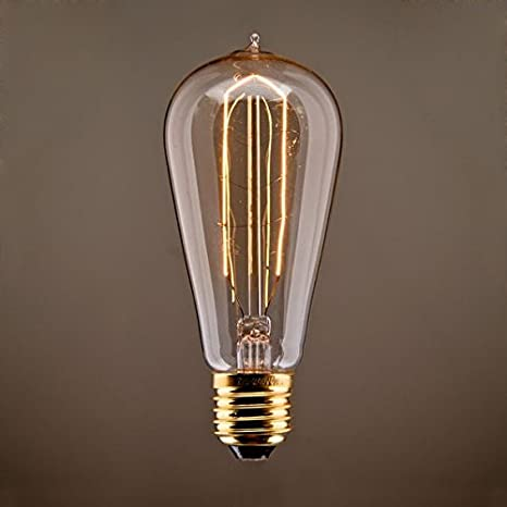 TIANLIANG04 bombillas LED Edison Bombilla Lámpara Bombilla Retro Modelado Led4 Tile Gas 40 Watts Modelo T64,La Luz Cálida De 40 Watts: Amazon.es: ...