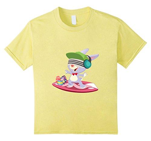 [Kids Surf Rabbit Bunny Easter Shirts Boys Teen Kids Men Adults 8 Lemon] (Couple Dress Up Ideas)