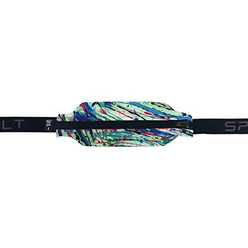Black Water Drop - SPIbelt Running Belt: Adult Large Pocket - No-Bounce Running Belt for Runners, Athletes and Adventurers (Water Drop with Black Zipper, 25