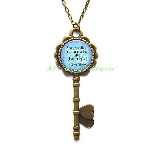 Beautiful Key Necklace,Quote