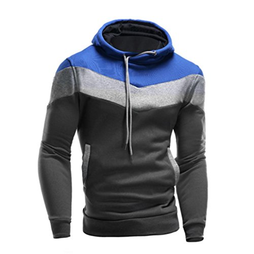 Review GREFER Men Sweater Retro Long Sleeve Hoodie Hooded Sweatshirt Tops Jacket Coat Outwear