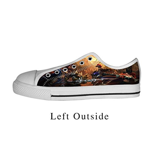 JIUDUIDODO Custom Best Gifts Women's LOL League of legends Low-top Canvas Shoes sneakers US7 (Best Minimalist Running Shoes compare prices)