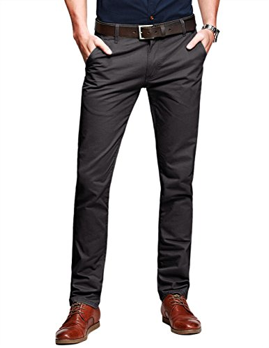 Match+Mens+Slim-Tapered+Flat-Front+Casual+Pants%28Army+gray%2C32W+x+31L%29