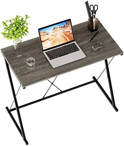 Domy Home Small Modern Computer Desk 31.5 Home Office Compact Laptop Table Simple Student Kid Writing Desk