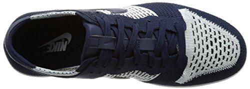 Flyknit Basket Dunk Nike Uomo da White Wolf College Grey Navy Scarpe 5xfwwq7aI