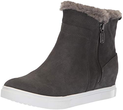 Blondo Women's Glade Sneaker, Dark Grey Suede, 9 M US