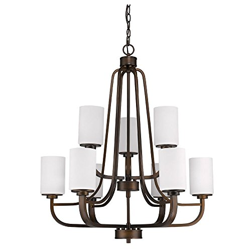 Acclaim Lighting IN11241ORB Addison Indoor 9-Light Chandelier with Glass Shades, 16
