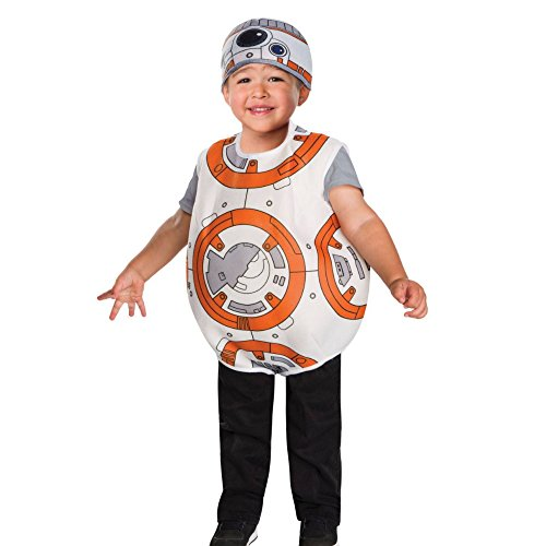 Bb 8 Costume Toddler (Star Wars BB-8 Toddler Boys Costume by Rubies (Size 3T - 4T / 3 - 4 Years))