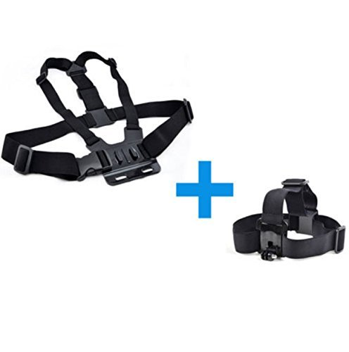GoPro Hero 2 3 4 5 Accessries Case Kit Collar Harness Head And Chest strap Mount
