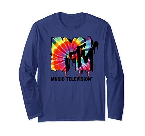 MTV Classic Tie Dye Drip Logo Long Sleeve Tee ()