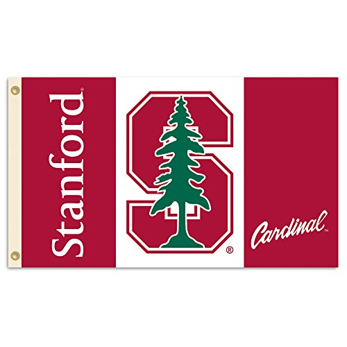 NCAA Stanford Cardinal Flag with Grommets, 3 x 5-Feet, Team Color