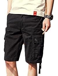 Macondoo Mens Rugged Wear Combat Multi Pockets Cargo Big and Tall Pants